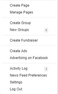 create a page drop down menu