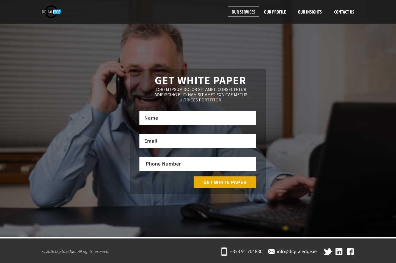 Landing Page Design Example - Web Design Galway