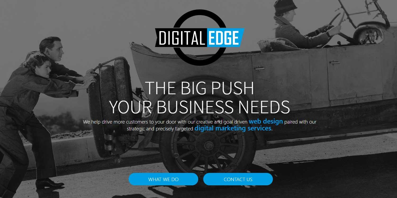 Digitaledge web design calls-to-action