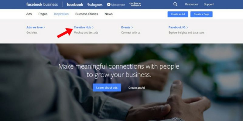 How to use the Facebook creative hub